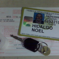 photo of Noel Hidalgo's taxi id