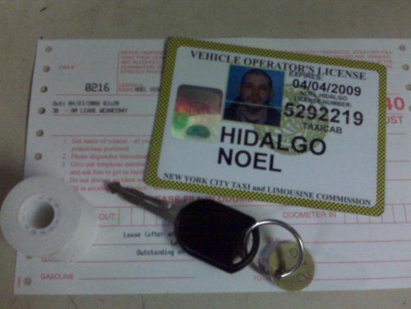 photo of Noel Hidalgo's taxi id